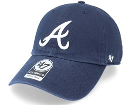 Atlanta Braves `47 Clean Up Navy Adjustable - 47 Brand