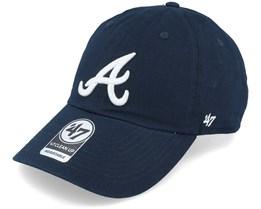 Atlanta Braves `47 Clean Up Navy Adjustable - 47 Brand