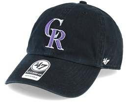 Colorado Rockies Clean Up Black Adjustable - 47 Brand