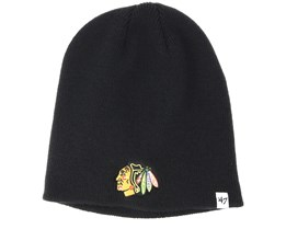 Chicago Blackhawks Black Beanie - 47 Brand