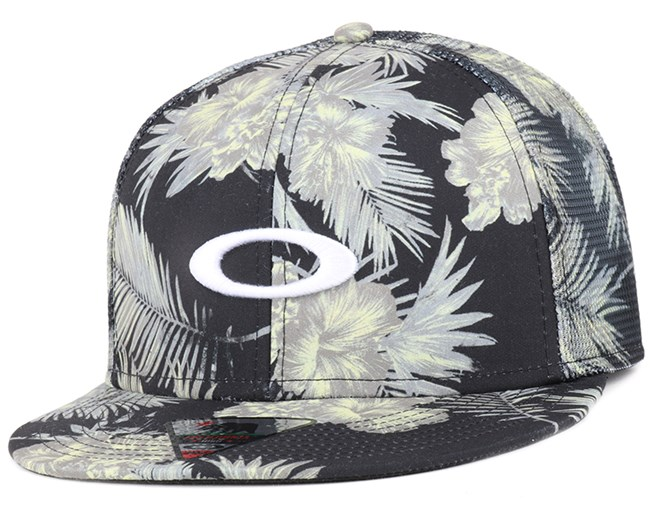 Mesh Sublimated Jet Black Snapback - Oakley