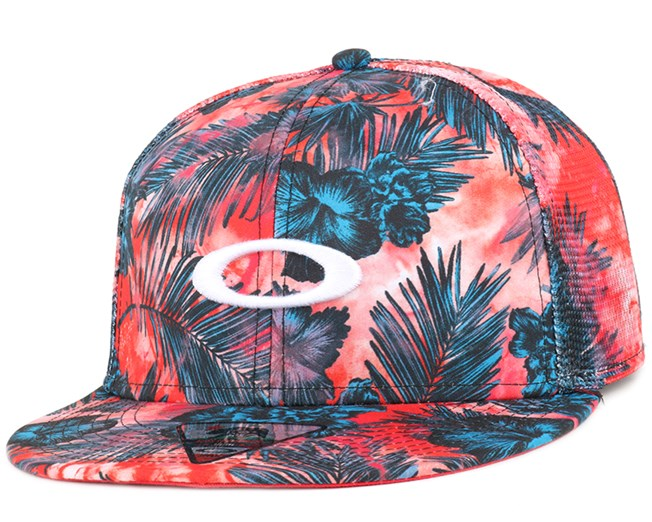 Mesh Sublimated Red Line Snapback - Oakley