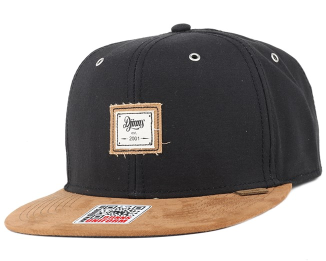 10oz Canvas Black Snapback - Djinns