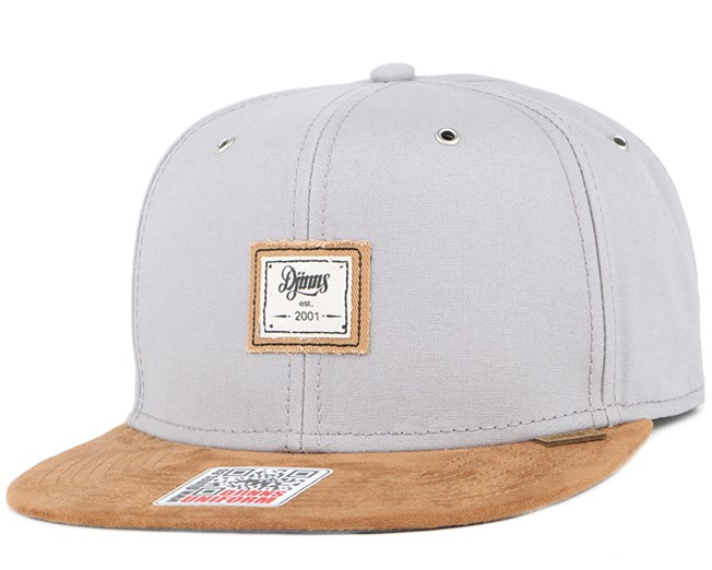 10oz Canvas Grey Snapback - Djinns