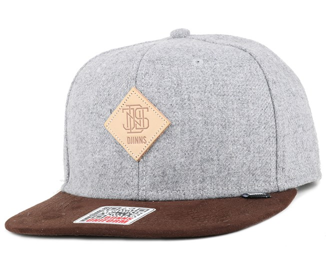 Rhomb Brown/Grey Snapback - Djinns