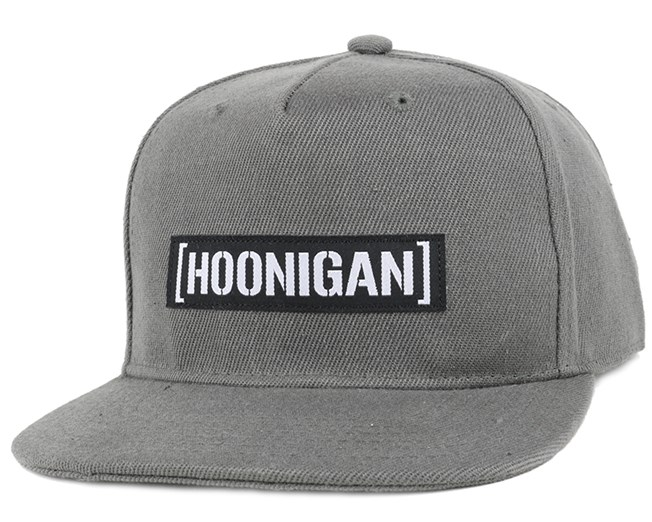 Casual Censor Bar Charcoal Snapback - Hoonigan