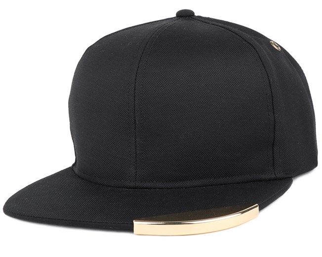 Gold Tip Links Black Strapback - Kangol