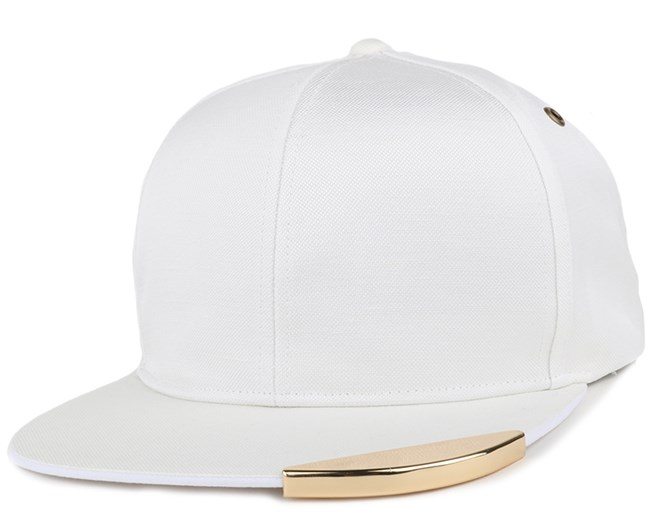 Gold Tip Links White Strapback - Kangol
