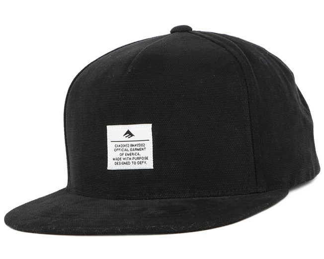 Standard Issue Black/White Snapback - Emerica
