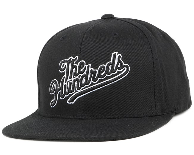 Slant Tail Black Snapback - The Hundreds