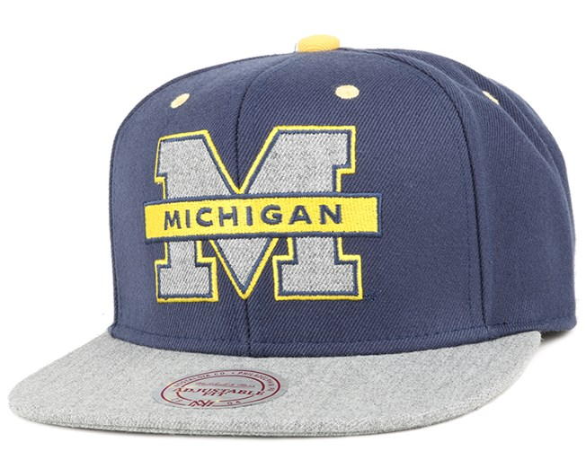 Michigan Wolverines Greytist Snapback - Mitchell & Ness