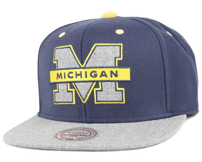 Michigan Wolverines Greytist Snapback - Mitchell & Ness