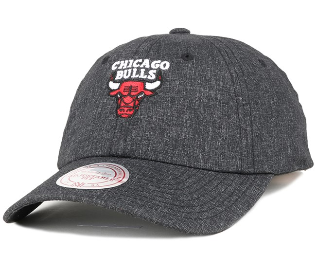 Chicago Bulls Melange Black Adjustable - Mitchell & Ness
