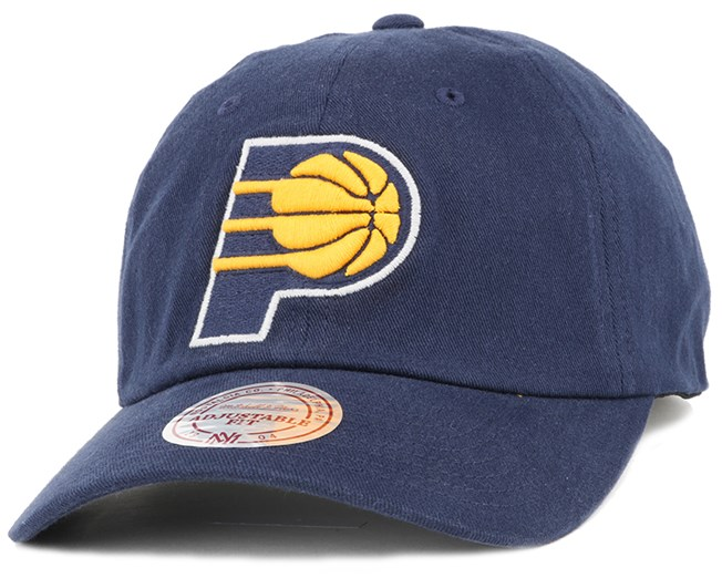 Indiana Pacers Washed Cotton 110 Navy Adjustable - Mitchell & Ness