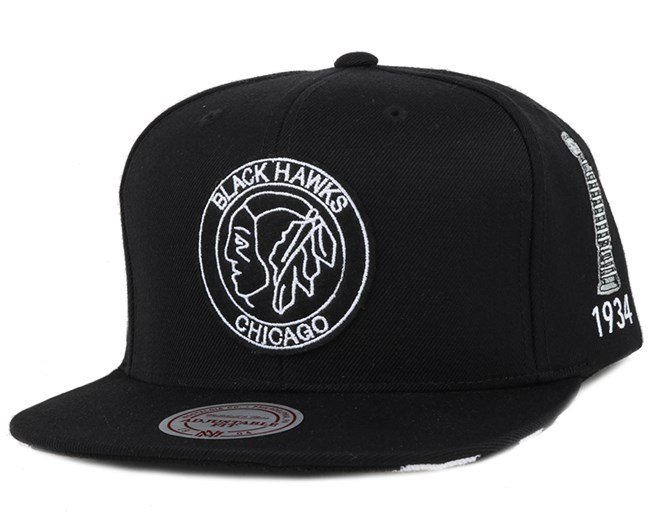 Chicago Blackhawks 1933-1934 Stanley Cup Snapback - Mitchell & Ness