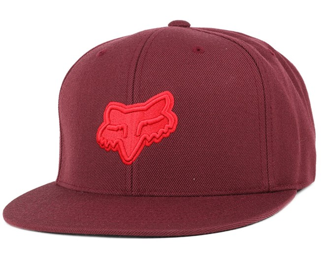 Fret Burgundy Snapback - Fox