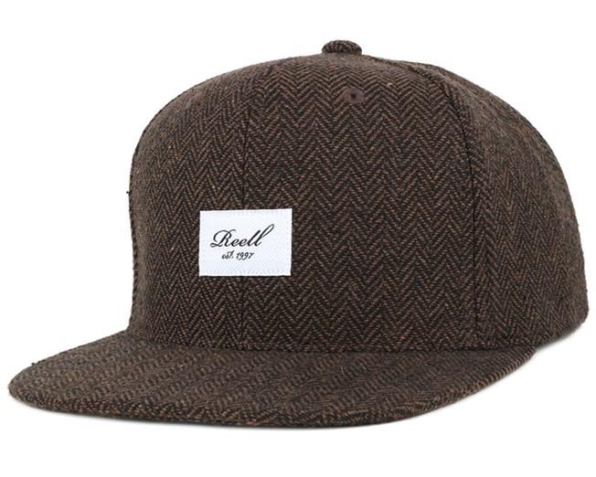 Tweed Heringbone Brown Snapback - Reell