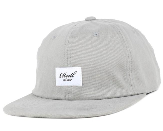 Flat Light Grey Strapback - Reel