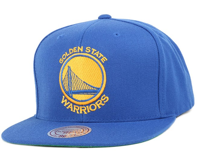 Golden State Warriors Wool Solid Royal Snapback - Mitchell & Ness