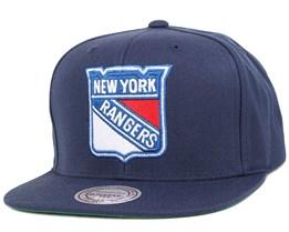 NY Rangers Wool Solid 2 Snapback - Mitchell & Ness
