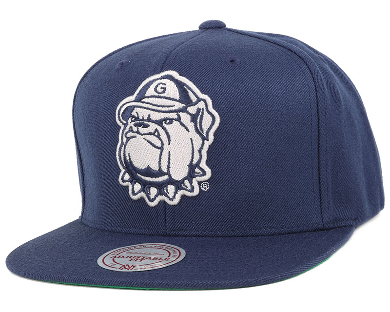 Georgetown hoyas wool solid snapback mitchell ness for Georgetown tattoo shops