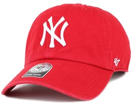NY Yankees Clean Up Red Adjustable - 47 Brand