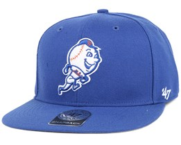 NY Mets Sure Shot Royal/White Snapback - 47 Brand