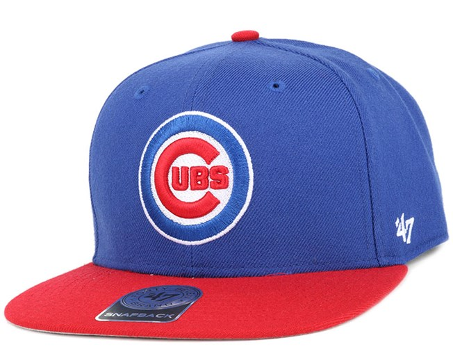 Chicago Cubs Sure Shot 2 Tone Blue/Red Snapback - 47 Brand