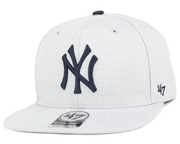 NY Yankees Boreland Captain Grey Heather Snapback - 47 Brand