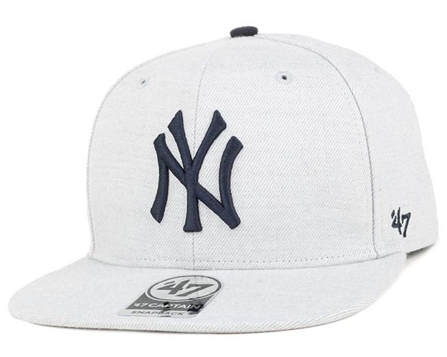 NY Yankees Boreland Captain Grey Heather Snapback - 47 Brand
