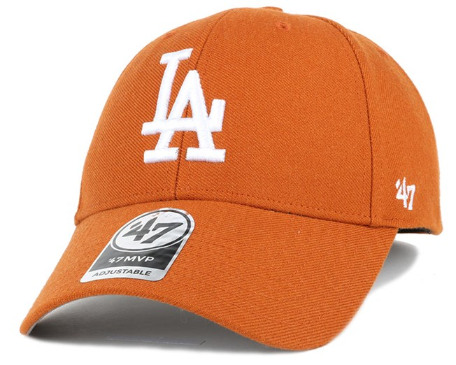 LA Dodgers Mvp Burnt Orange Adjustable - 47 Brand