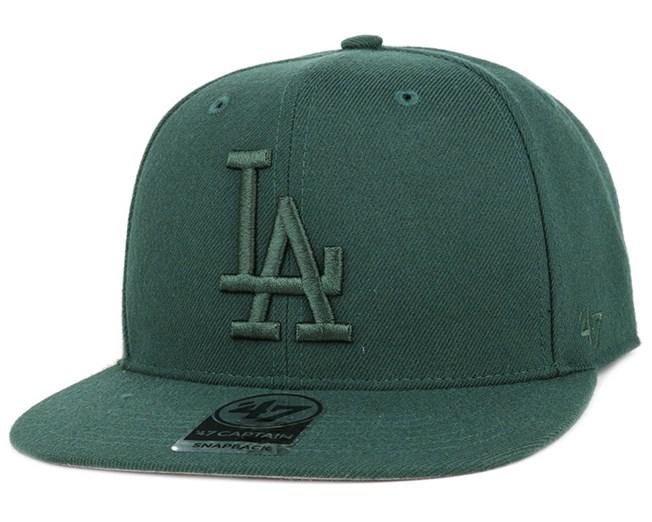 LA Dodgers No Shot Captain Dark Green Snapback - 47 Brand