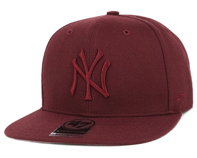 NY Yankees No Shot Captain Dark Maroon/Dark Maroon Snapback - 47 Brand