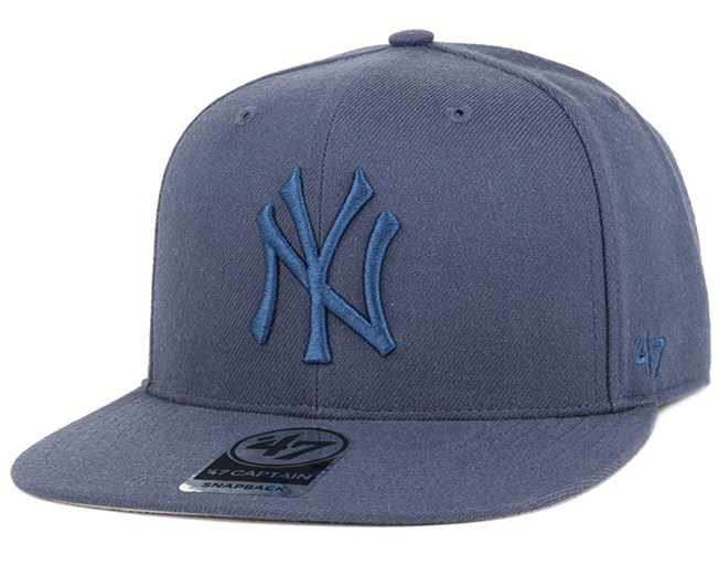 NY Yankees No Shot Captain Timber Blue/Timber Blue Snapback - 47 Brand
