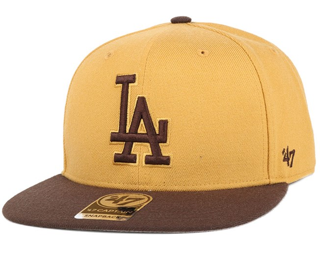 LA Dodgers No Shot 2 Tone Captain Wheat Snapback - 47 Brand