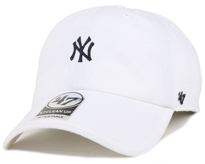 NY Yankees Centerfield Clean Up White Adjustable - 47 Brand
