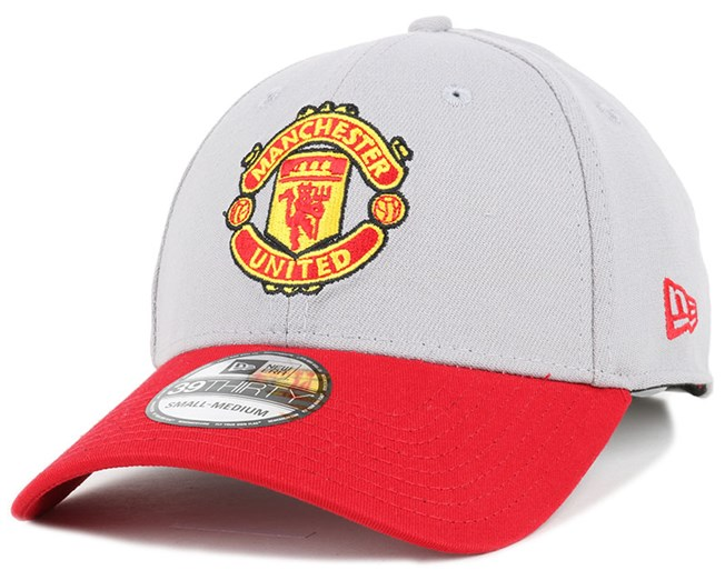 Manchester United Cotton Grey/Red 39Thirty Flexfit - New Era