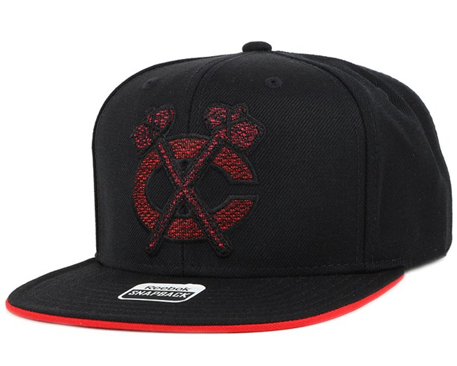 Chicago Blackhawks Crosshatch Snapback - Reebok