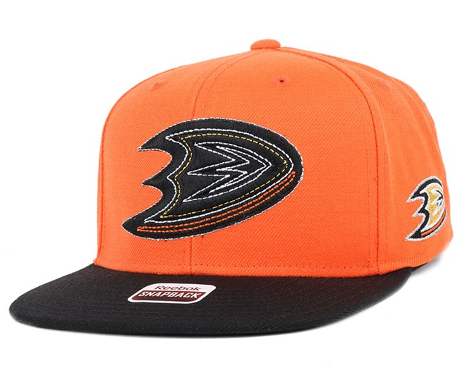 Anaheim Ducks Two Tone Orange/Black Snapback - Reebok