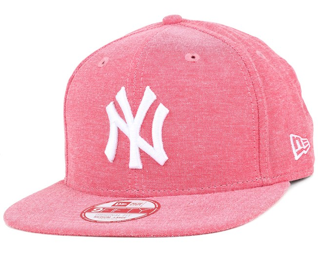 NY Yankees Oxford Lights Scarlet 9Fifty Snapback - New Era