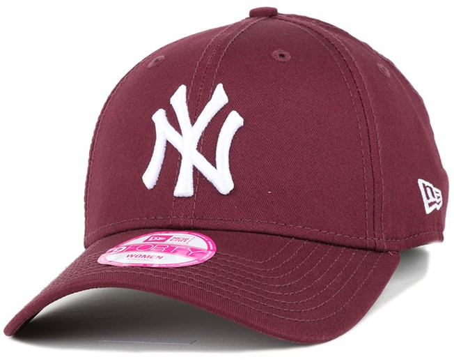 NY Yankees League Essential Maroon Woman 940 Adjustable - New Era