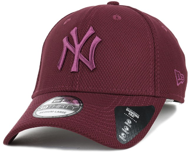 NY Yankees Diamon Era Essential Maroon 39Thirty Flexfit - New Era