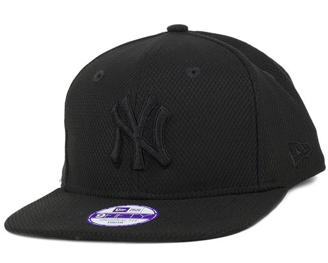 Kids NY Yankees Diamond Era Tonal Black 9Fifty Snapback - New Era