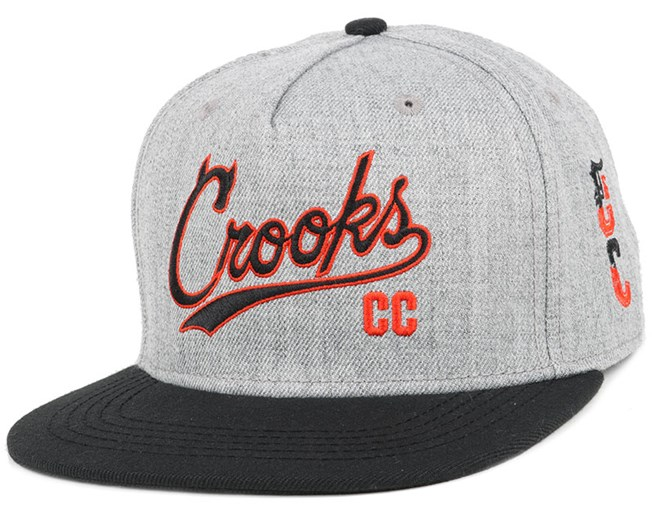 Syndicate C Speckle Grey/Black Snapback - Crooks & Castles