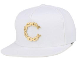 Thuxury Chain C White Strapback - Crooks & Castles