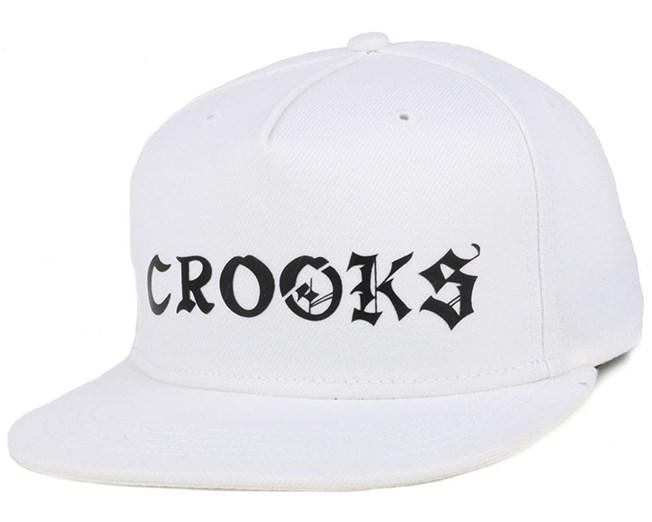 The Player White Snapback - Crooks & Castles