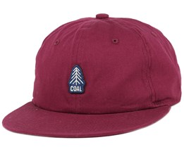The Junior Burgundy Snapback - Coal