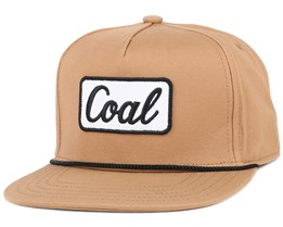 The Palmer Light Brown Snapback - Coal