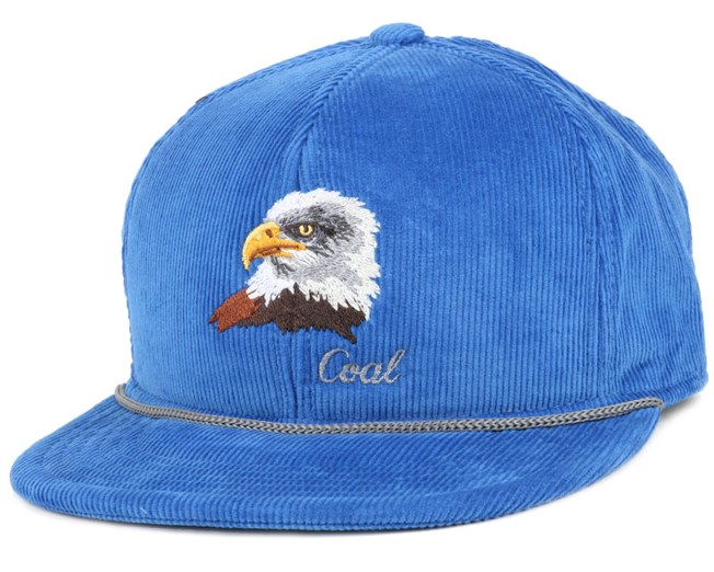 The Wilderness Royal Blue Eagle Snapback - Coal