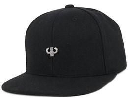 Icon Plate Black Snapback - Pelle Pelle